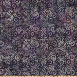Island Batik Steam Engine Gears Amethyst Fabric