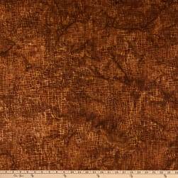 Island Batik Clockworks Mosaic Lines Coffee Fabric
