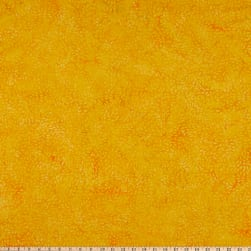 Island Batik Garden Party Tossed Seeds Cheddar Fabric