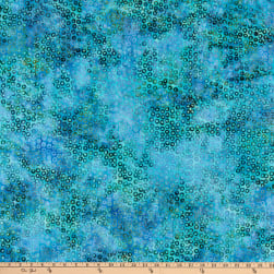 Island Batik Graphic Gems Cheerios Cool Waters Fabric