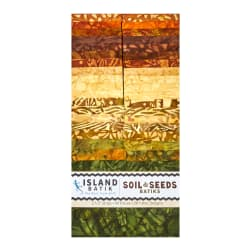 "Island Batik Soil and Seeds 2.5"" Strips 40"
