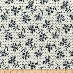 Wilmington Blackwood Cottage Dotted Floral Cream