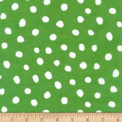 Kaufman Dot and Stripe Delights Large Dot Green
