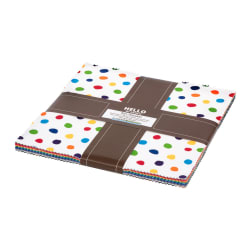 Kaufman Ten Squares Dot and Stripe Delights Multi