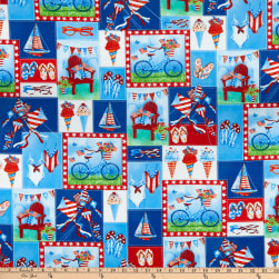 Henry Glass Star Spangled Summer Patchwork Red White