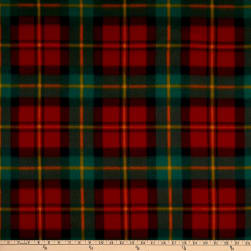 Polar Fleece Chris Plaid Red/Green Fabric