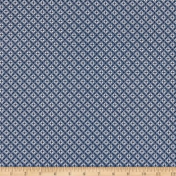 Fabric Merchants Swimwear Nylon Spandex Mini Medallion Navy
