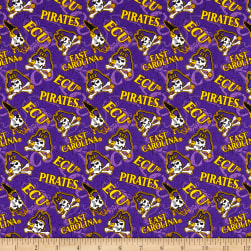 NCAA East Carolina Pirates Broadcloth Tone on Tone