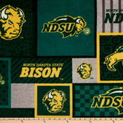 NCAA North Dakota State Bison College Patch Fleece Multi Fabric