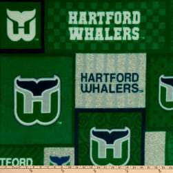 NHL Hartford Whalers Patch Fleece Multi Fabric