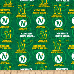 NHL Minnesota North Stars Tone on Tone Cotton Multi Fabric