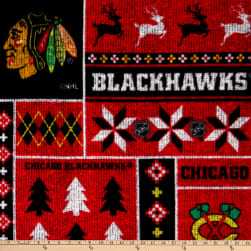NHL Chicago Blackhawks Ugly Sweater Fleece Multi Fabric