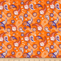 NCAA Clemson Tigers Paisley Cotton Multi