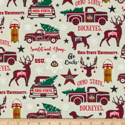 NCAA Ohio State Buckeyes Christmas Allover Multi