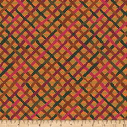 Kaffe Fassett Collective Mad Plaid Rust