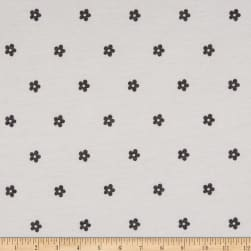 Fabric Merchants French Terry Knit Ditsy Floral Black/Ivory