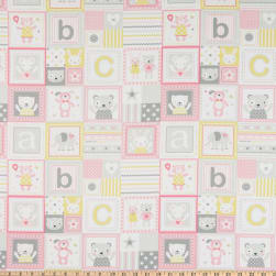 Michael Miller Tiny Tots ABC's Patchwork Blossom