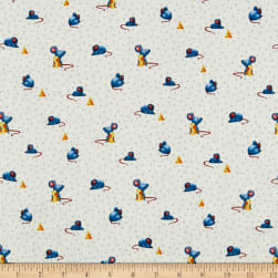 Michael Miller Feline Friends Say Cheese Blue Fabric