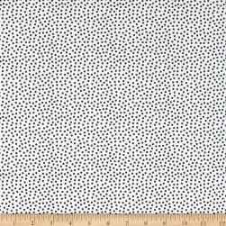 Benartex Gridwork Square Dots White