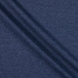Fabtrends Heathered French Terry Solid Dark Denim
