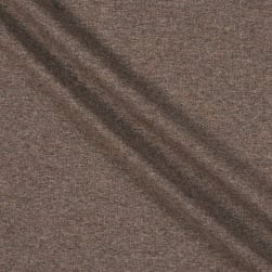 Fabtrends Heathered French Terry Solid Brown