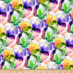 QT Fabrics Transcendence Abstract Bubbles White