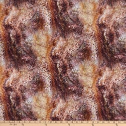 QT Fabrics Fusion Splash Brown