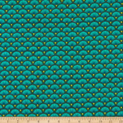 STOF France Stretch Jersey Knit Doucet Turquoise Fabric