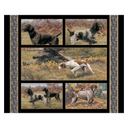 Wild Wings Show Dogs 35.5'' Wallhanging Panel Multi Fabric