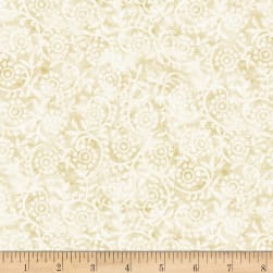 Timeless Treasures London Blues Stamped Pattern Cream