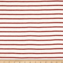 Merchants French Terry Horizontal Stripe Ivory/Rust