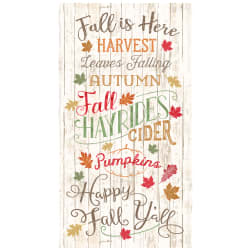 Timeless Treasures Happy Fall Y'all Fall Is Here 24'' Panel Natural Fabric
