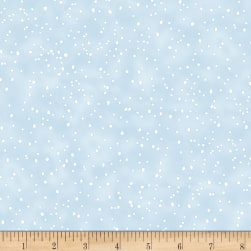 Timeless Treasures Snow Day Snow Dots Blue
