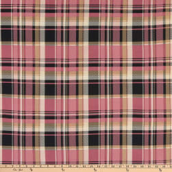 Fabric Merchants Double Brushed Poly Stretch Jersey Knit Plaid Mauve/Taupe
