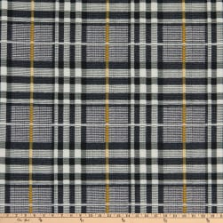Fabric Merchants Double Brushed Poly Stretch Jersey Knit Plaid Black/Gray/Mustard