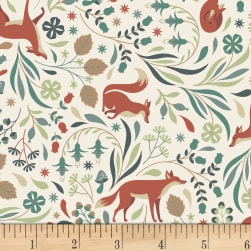 Dear Stella Fawned Of You Foxy Time Cream Fabric