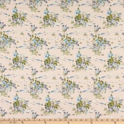 Fabtrends Digital Rayon Soleil Plairie Wildflower Bouquet Blush/Denim/Sage Fabric