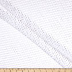 Luxury Nylon Spandex Crochet Lace White Fabric