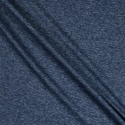 Splendid Apparel Rayon Spandex Jersey Knit Heathered Stripe Navy Fabric