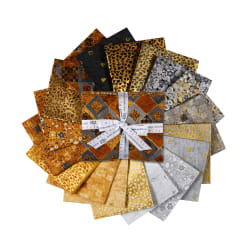 Kaufman Fat Quarter Bundles Gustav Klimt 18pcs Neutral