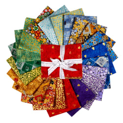 Kaufman Fat Quarter Bundles Metallic Gustav Klimt Multi
