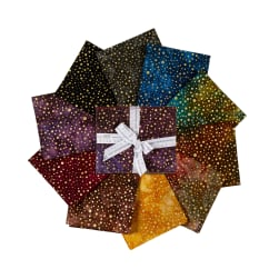 Kaufman Artisan Batiks Fat Quarter Bundle Sparkle 10pcs