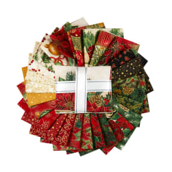 Kaufman Fat Quarter Bundles Holiday Flourish 26 Pcs