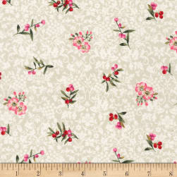 Kaufman Surrey Meadows Small Floral Linen Fabric