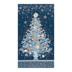 Kaufman Holiday Flourish 13 Tree 24'' Panel Navy Fabric