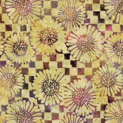 Island Batik Check Sunflower Dusk