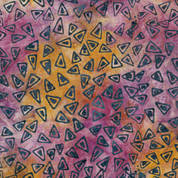 Island Batik Triangles Sunset