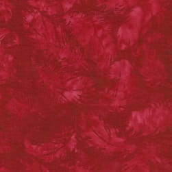 Island Batik American Frontier Tossed Feather Pomegranate