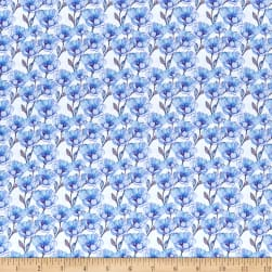 In The Beginning Digital The Leah Collection Small Magnolia Blue/White Fabric