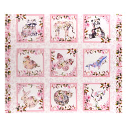In The Beginning Fabrics Pretty In Pink 36'' Panel Pink